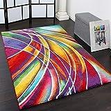 Paco Home Alfombra Moderna de Diseñador De Colores Mixtos Estampado Multicolor,...
