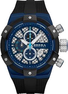 BRERA OROLOGI - Reloj de Cuarzo Analógico para Hombre con Correa de Goma Mod. Supersportivo Brssc4919c