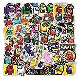 TUHAO Hot Game Among Us Crewmate Vinyl Waterproof PVC Stickers For Laptop Luggage Skateboard Car DIY Graffiti Cartoon Stickers 50Pcs