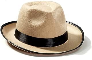 Forum Mens Beige Fedora Roaring 20s Costume Hat Accessory