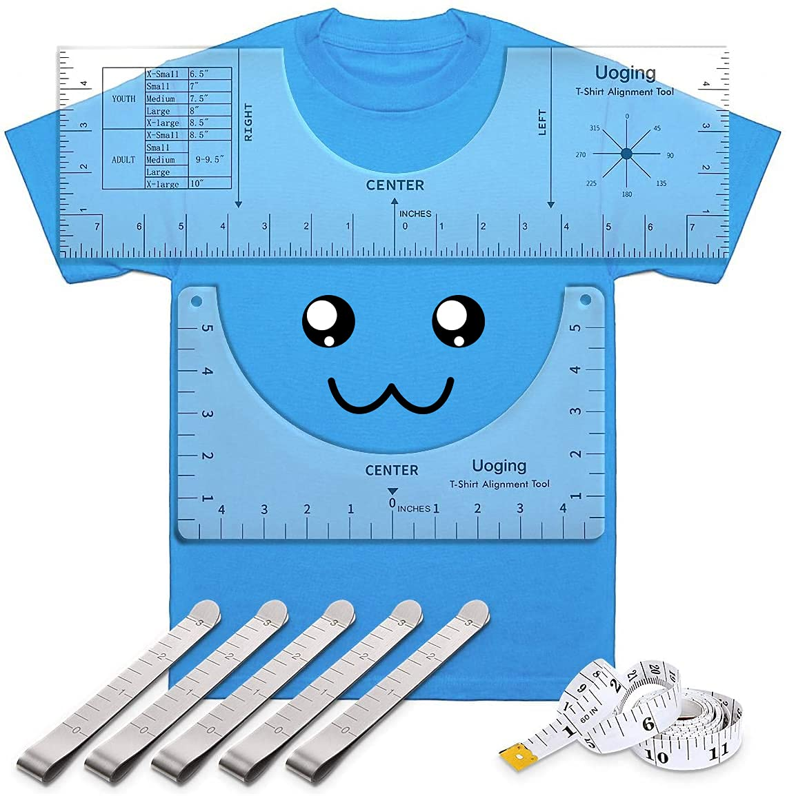 8 Pcs T-Shirt Ruler Guide Max 56% OFF Center Popular brand to Des Alignment