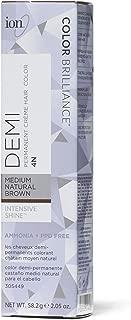 Ion Intensive Shine 4N Medium Natural Brown Demi Permanent Creme Hair Color 4N Medium Natural Brown