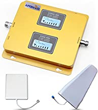 CDMA PCS 850/1900MHz 2G 3G 4G Cell Phone Signal Booster Kit for All Carriers 3G/4G LTE up to 2,000 Sq Ft(daul band 850/1900)