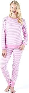 Sleepyheads Women's Sleepwear Long Sleeve Soft & Cozy Striped Knit 2-Piece Pajama Set