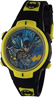 Batman Boy's Black Rubber Digital Light Up Watch