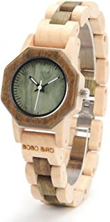 M25 Wooden Womens Watches Analog Quartz Wrist Watch Full Wood Band Wood Watch for Women