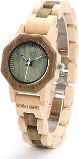 M25 Wooden Womens Watches Analog Quartz Wrist Watch Full Wood Band Wood Watch for Women