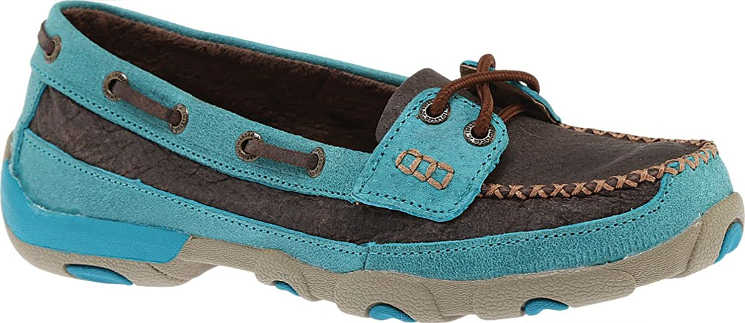 Twisted X Womens D Toe Driving Mocs Brown