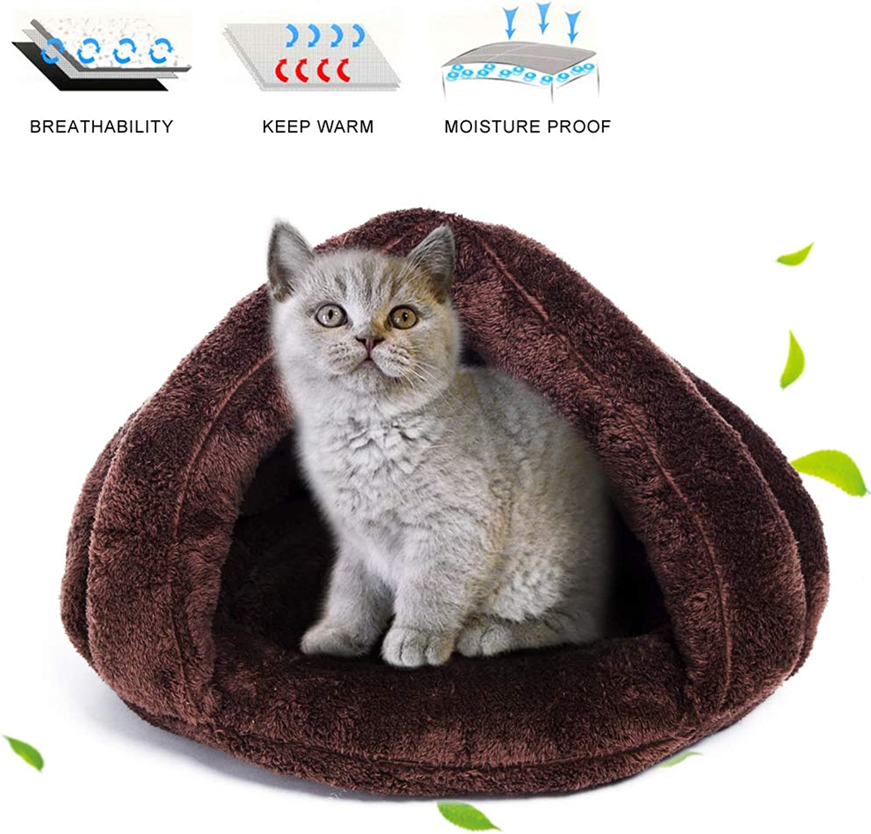 FairyMe Pet Bed Pet Bedding Cat Dog Sleeping Bag (Brown)