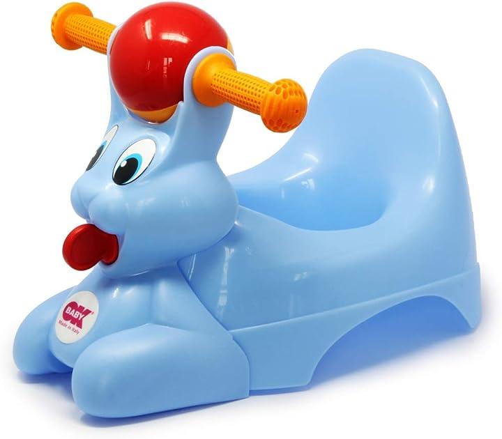 Vasino per bambini con seduta ergonomica, a forma di coniglio - azzurro - okbaby spidy 37825535
