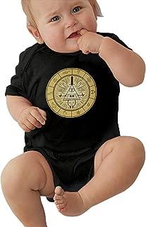 LUCY FOSTER Gravity Falls Unisex Classic Newborn Baby Romper Baby BoyTank Tops Black
