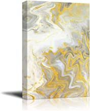 wall26 - Canvas Wall Art - Abstract Golden Texture - Giclee Print Gallery Wrap Modern Home Decor Ready to Hang - 16x24 inches