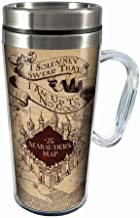 Spoontiques 17183 Solemnly Swear Insulated Travel Mug, 14 Ounces, Off Off White