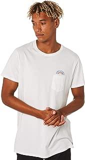 Banks Men's Spectrum Mens Tee Crew Neck Long Sleeve Cotton White