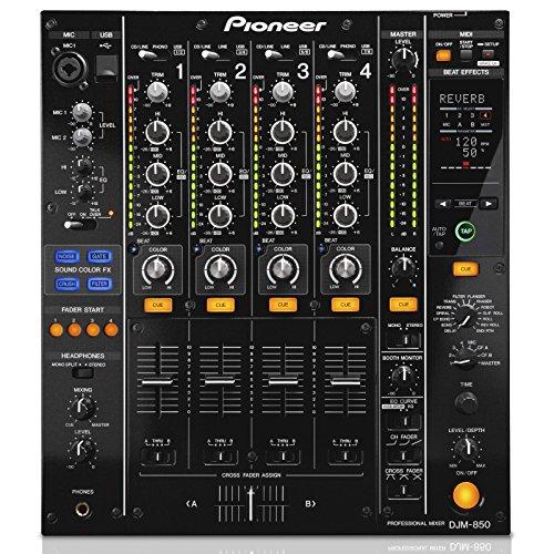 PioneerDJM-850-K 4-Kanal High-End-Digitalmixer,schwarz