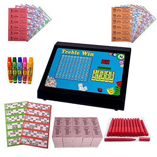 Treble Win Electronic Bingo, Raffle & Tote Machine Starter Kit - All you need to play Bingo