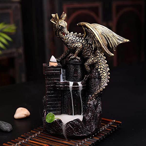 Ceramic Incense Holder Incense Burner Backflow Censer Dragon