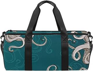 TIZORAX - Bolsa de viaje para gimnasio, diseño de hojas de palma, color