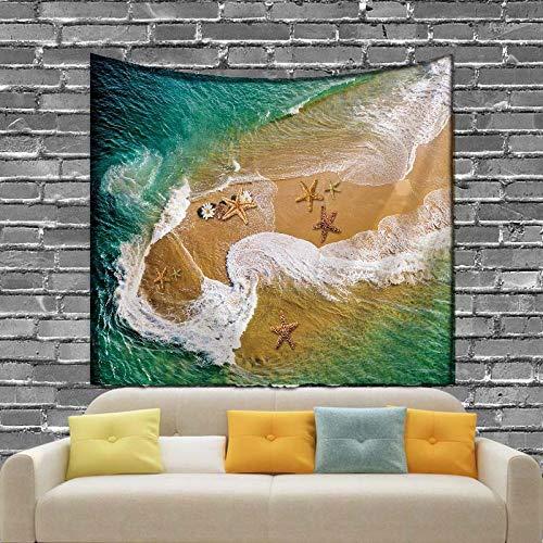 YYZCM - Tapiz de playa para colgar en la pared, playa de arena, picnic, manta de campaña, campaña, 2_M/150 cm x 130 cm