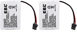 EBL Pack of 2 BT-446 Rechargeable Cordless Phone Replacement Batteries for Uniden BT-446 BT446, BP-446 BP446, BT-1005 BT1005, 3.6V 1000mAh NiMH