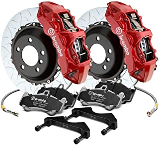Brembo Front Brake kit Slotted 380x34 2-piece Rotor 6-piston Red Caliper 1J3.9018A2