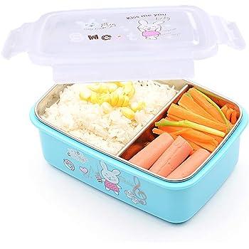 G.a HOMEFAVOR 1400ml Fiambrera Acero Inoxidable con Divisor Extraíble Fiambrera Infantil Caja de Bento Lunch Box para Adultos Caja de Almuerzo, Prueba de Fugas: Amazon.es: Hogar