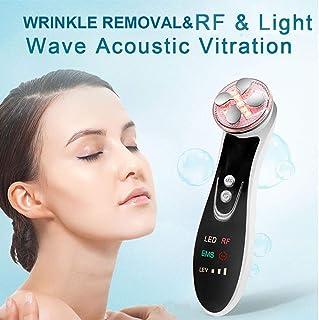 5色のLED光療法EMSのRFフェイス美容マッサージャーマシンフェイスリフトスキン締めのための