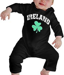 Ireland Irish Shamrock Clover Unisex Baby Long Sleeves Cotton Climbing Shirt