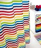 Sorema Shine - Cortina para baño, de Poliester, 180 x 200 cm, Multicolor