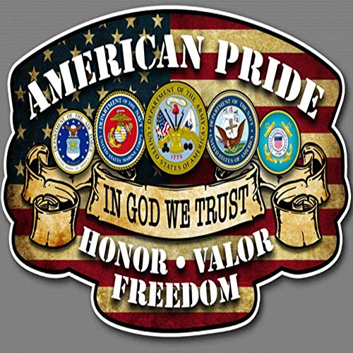 Amazing Deal Built USA Hero American Pride Series in God We Trust Decal Sticker | Waterproof Permane...