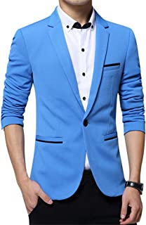 ZiXing Mens 1 Button Casual Blazer Single Breasted and Fully Lined Blazer Jacket