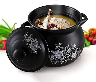 Cazuela Olla de Sopa de cerámica doméstica Cacerola pequeña Olla de Sopa Olla de Alta Temperatura cazuela-2.8L