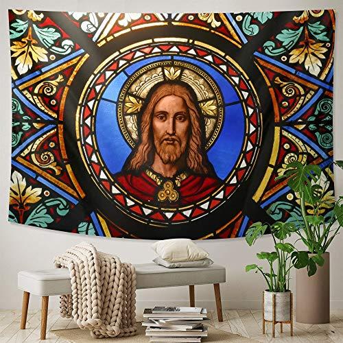 KHKJ Jesucristo Mural decoración del hogar Tapiz Hippie decoración Bohemia Hoja sofá Manta decoración de la Pared Estera de Yoga A2 200x180cm