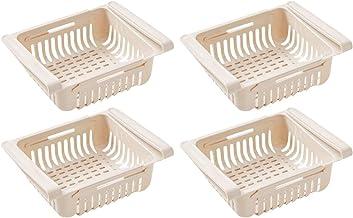GKKXUE 4 pcs storage organizer Fridge Freezer Organizer Refrigerator Storage Rack Shelf Drawer storage organizer for kitch...