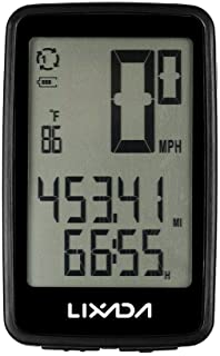 Lixada Wireless Bike Ordenador con Sensor de Cadencia de Bicicleta Velocímetro Odómetro USB Recargable