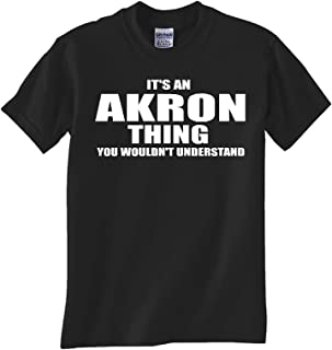 STUFF WITH ATTITUDE Akron Thing Black TEE Shirt