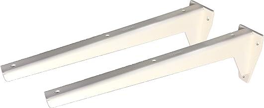 Sunload Plankdragers voor zware lasten L-profiel console staal verzinkt wit gepoedercoat (2 x 380 mm)