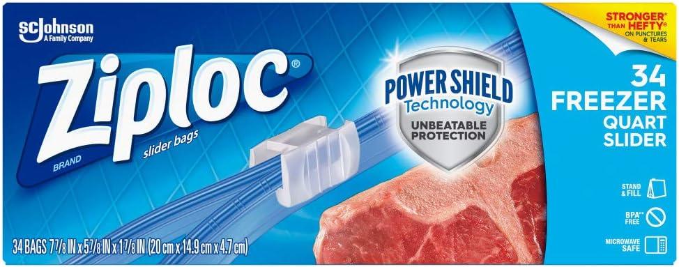 Max 58% OFF Ziploc Quart Food Storage Freezer Slider Power Tech Bags Cheap Shield