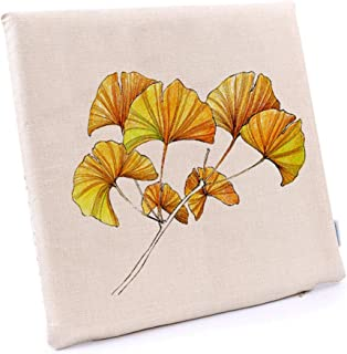 Premium Comfort Seat Cushioning, Leaf Pattern Buttocks Seat Pads Dinning Office Classroom Chair Cushions With Straps-u L40...