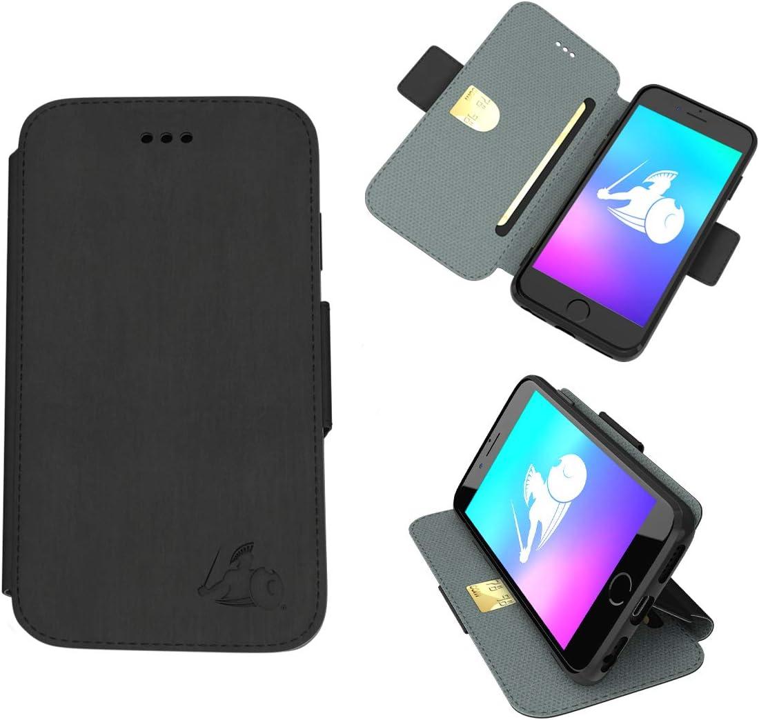 DefenderShield Compatible iPhone 8/7 / 6 / SE 2020 EMF & 5G Radiation Protection SlimFlip Case - RFID Blocking EMF Slim Wallet Case