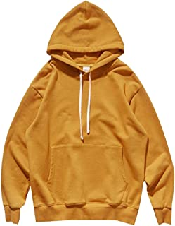Men's Causal Solid Soft French Long Sleeve Pullover Hoodie Sweatshirts