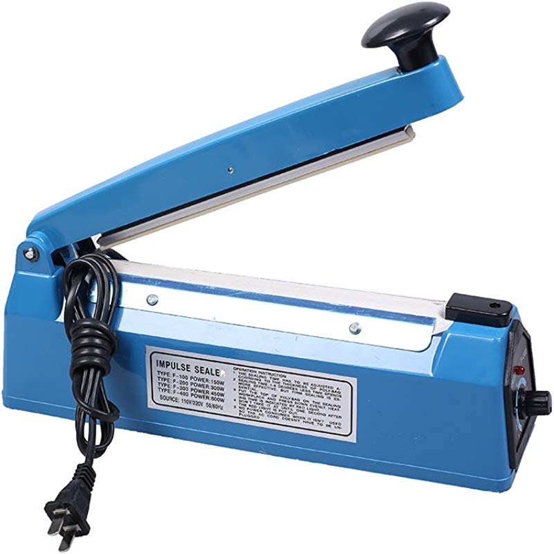 8 Heating Strip Electric Impulse Sealer For Sealing PP PE Poly Plastic Bags Commercial Personal Use