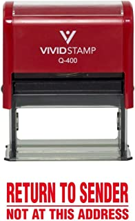 Return to Sender Not at This Address Self Inking Rubber Stamp (Red Ink) - X-Large