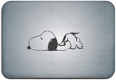 N\A Paillasson intérieur/extérieur Snoopy Sleepy Paillassons en Caoutchouc antidérapants Tapis Cadeaux pour l'entrée