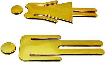 Homozy - Placa de sinalização para banheiro com 3 cores