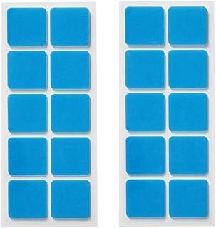 くりぴた はがせるポスターテープ 壁紙用 (S) 20mm角 20片入 (10片×2シート) 掲示用 壁紙に「しっかり貼れる」「キレイにはがせる」両面テープ