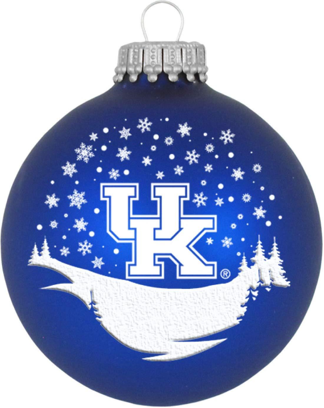 University of Kentucky Wildcats Glass Ornament