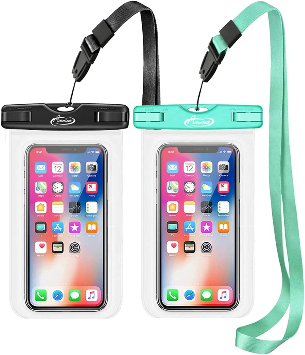 AiRunTech Waterproof Case, Waterproof Cell Phone Dry Bag Compatible for iPhone 12/12 Pro Max/11/11 Pro/SE/Xs Max/XR/8P/7 Galaxy up to 7.0
