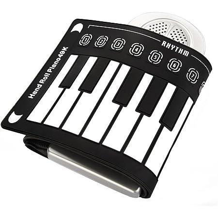 Jacksking Piano Enrollable, portátil 49 Teclas Teclado electrónico Piano Enrollable Manual para niños, Principiantes, Piano electrónico(#2)