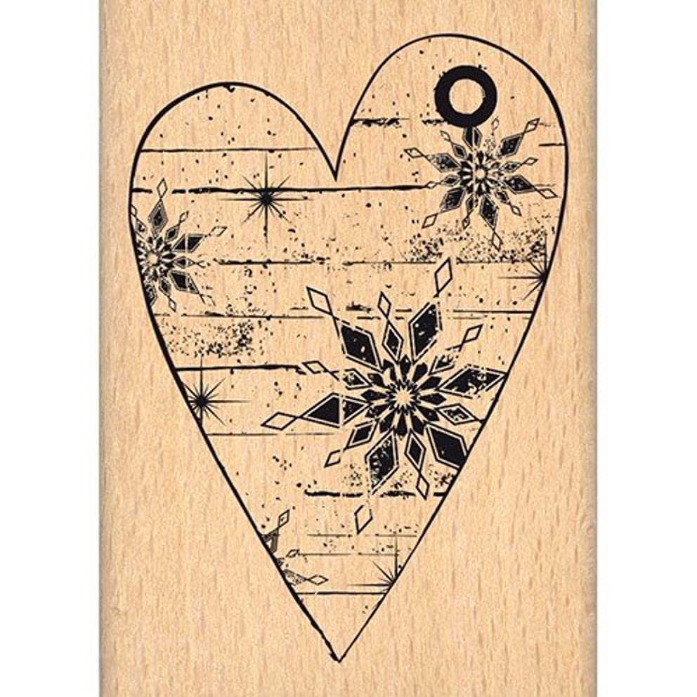 Florilèges Design FE214035 Beige Winter Heart Scrapbooking Stamp 7 x 5 x 2.5 cm